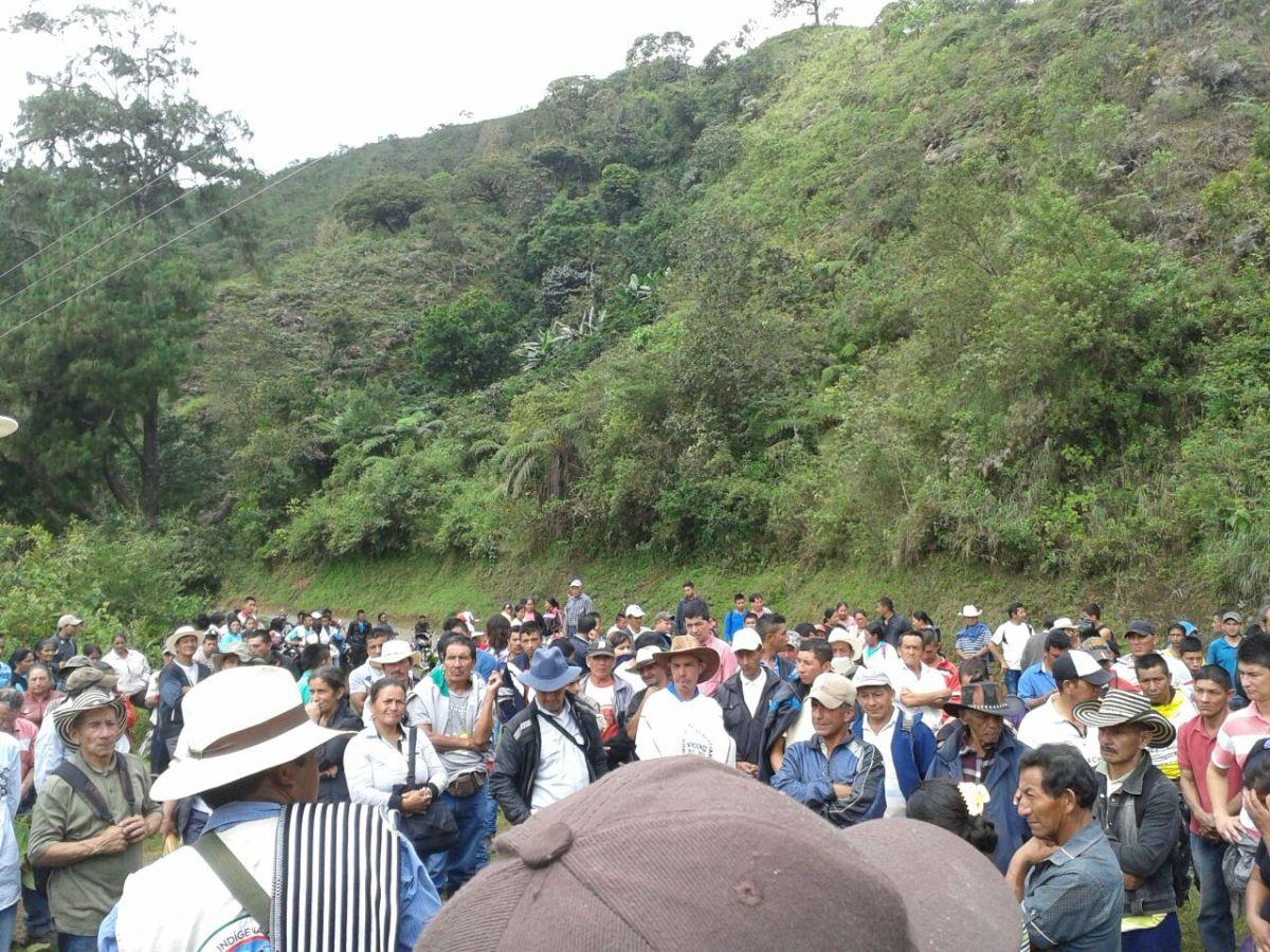 El macizo colombiano se moviliza en defensa de la vida y el agua