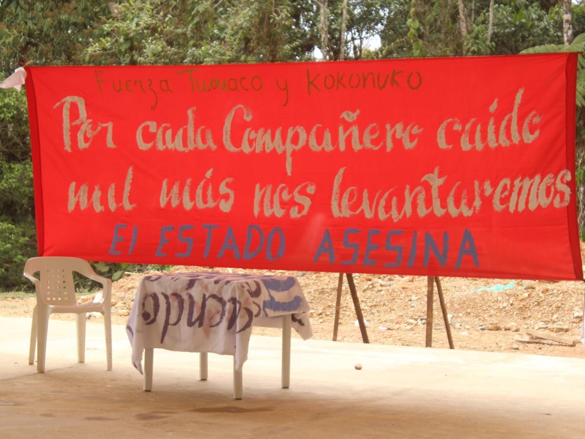 Evento cultural por la paz y la liberación de los prisioneros políticos, La Elvira, Cauca.
